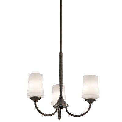 Bergstrom 3-Light LED Shaded Chandelier Finish: Olde Bronze