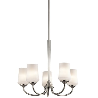 Bergstrom 5-Light Shaded Chandelier Finish: Brushed Nickel