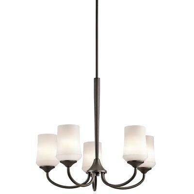 Bergstrom 5-Light LED Shaded Chandelier Finish: Olde Bronze
