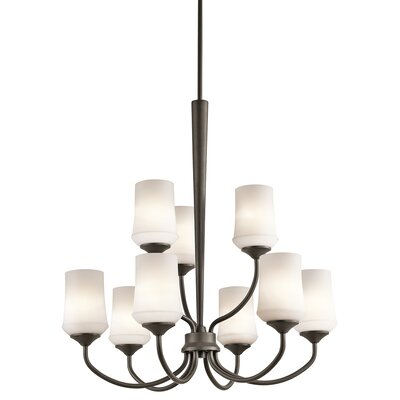 Bergstrom 9-Light LED Shaded Chandelier Finish: Olde Bronze