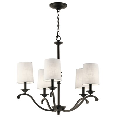 Berkeley 5-Light Shaded Chandelier Finish: Olde Bronze