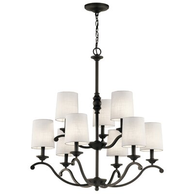 Berkeley 9-Light Shaded Chandelier Finish: Olde Bronze
