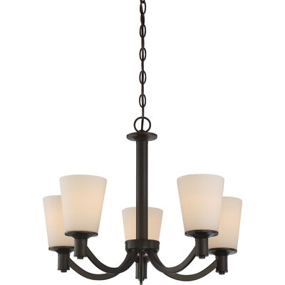 Cumberbatch 5-Light Shaded Chandelier Finish: Forest Bronze