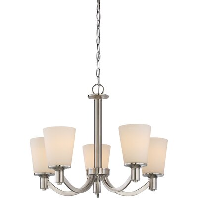 Cumberbatch 5-Light Shaded Chandelier Finish: Brushed Nickel