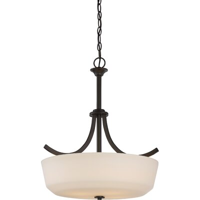 Cumberbatch 4-Light Inverted Pendant Finish: Forest Bronze