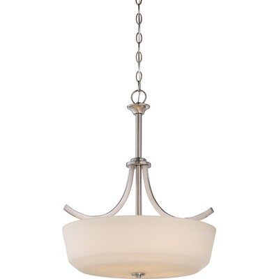 Cumberbatch 4-Light Inverted Pendant Finish: Brushed Nickel