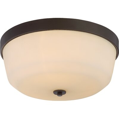 Cumberbatch 3-Light Flush Mount Finish: Forest Bronze
