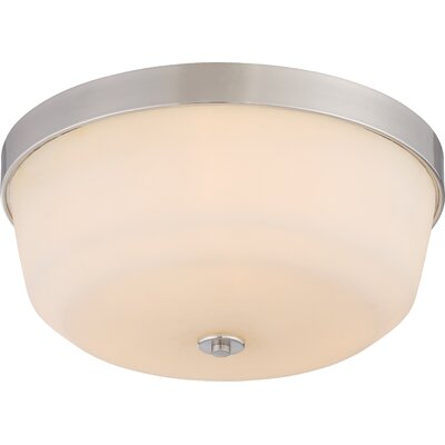 Cumberbatch 3-Light Flush Mount Finish: Brushed Nickel