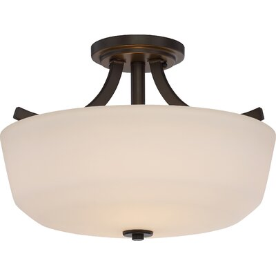 Argenta 2-Light Semi Flush Mount Finish: Forest Bronze