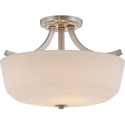 Cumberbatch 2-Light Semi Flush Mount Finish: Brushed Nickel