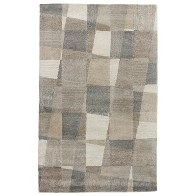 Arnault Hand-Tufted Gray Area Rug Rug Size: Rectangle 5 x 8