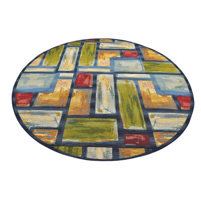Aroma Blue Indoor/ Outdoor Area Rug Rug Size: Rectangle 53 x 8