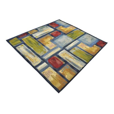 Aroma Blue Indoor/ Outdoor Area Rug Rug Size: Square 6