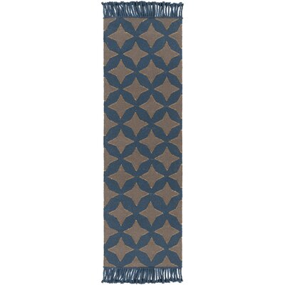 Roselawn Charcoal Area Rug Rug Size: Runner 26 x 8