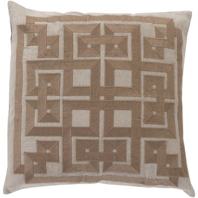 Portage 100% Linen Throw Pillow Cover Size: 20 H x 20 W x 1 D, Color: GrayBrown