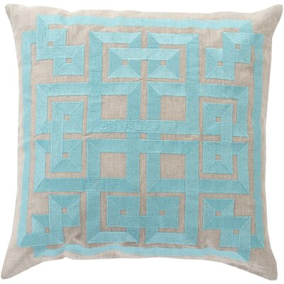 Portage 100% Linen Throw Pillow Cover Size: 18 H x 18 W x 1 D, Color: BlueGray