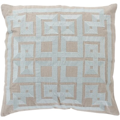 Portage 100% Linen Throw Pillow Cover Size: 18 H x 18 W x 1 D, Color: AquaGray