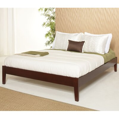 Keevan Platform Bed Size: Full, Color: Cordovan
