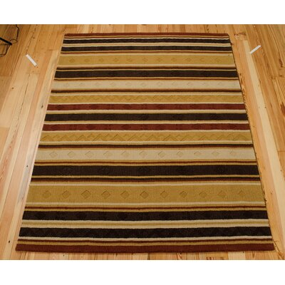 Aviston Hand-Tufted Beige/Black Area Rug Rug Size: 11 x 8