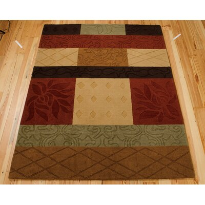 Aviston Hand-Tufted Red/Beige Area Rug