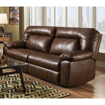 Bolles Dual Reclining Sofa Upholstery: Dark Caramel