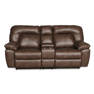 Bolles Dual Console Reclining Sofa Upholstery: Dark Caramel