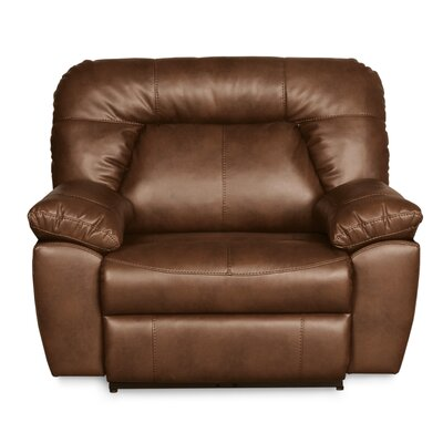 Bolles Manual Wall Hugger Recliner Upholstery: Dark Caramel