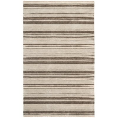 Wesley Hand-Knotted Silver Area Rug Rug Size: Rectangle 9 x 12