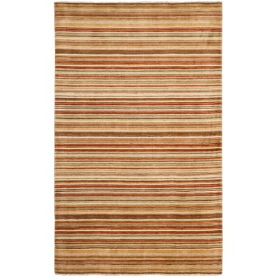 Wesley Hand-Knotted Rust Area Rug Rug Size: Rectangle 5 x 8