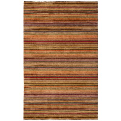 Wesley Hand-Knotted Red Area Rug Rug Size: Rectangle 5 x 8
