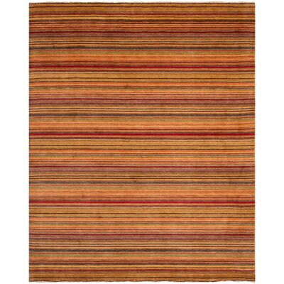 Wesley Hand-Knotted Red Area Rug Rug Size: Rectangle 8 x 10