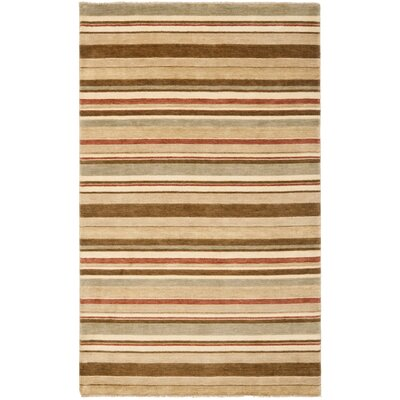 Wesley Hand-Knotted Camel Area Rug Rug Size: Rectangle 4 x 6