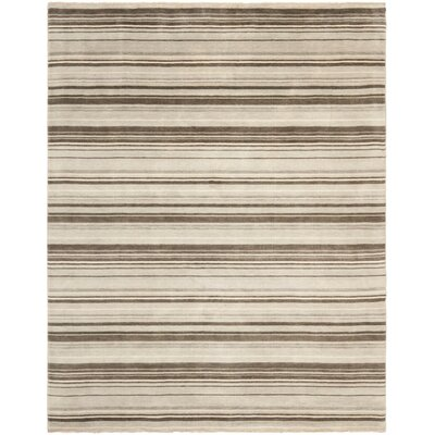 Wesley Hand-Knotted Silver Area Rug Rug Size: Rectangle 8 x 10