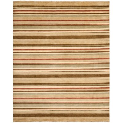 Wesley Hand-Knotted Camel Area Rug Rug Size: Rectangle 8 x 10