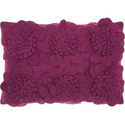 Brownell Felt Lumbar Pillow Color: Purple