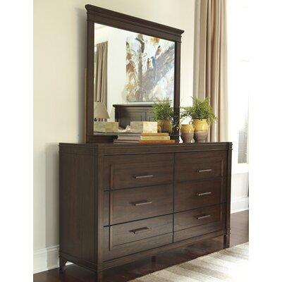Three Rivers 6 Drawer Dresser with Mirror