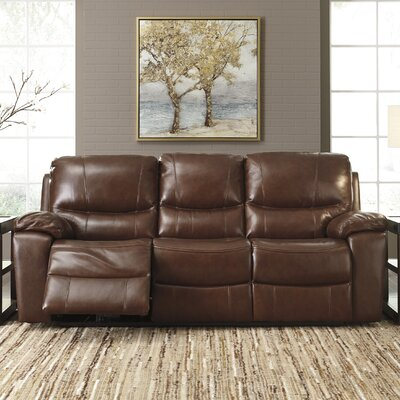 Boehme Leather Reclining Sofa Type: Power