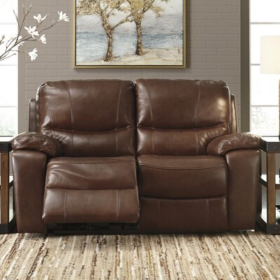 Boehme Leather Reclining Loveseat Type: Power