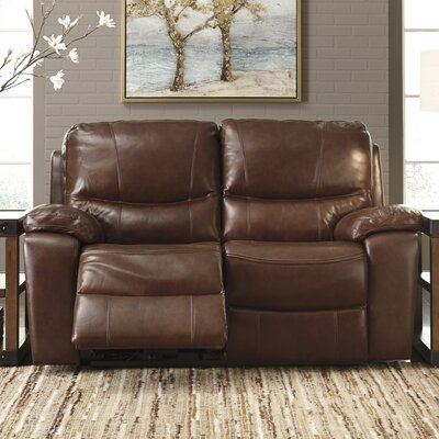 Boehme Leather Reclining Loveseat Type: Manual