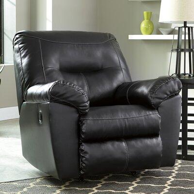 Burkes Rocker Recliner Upholstery: Black