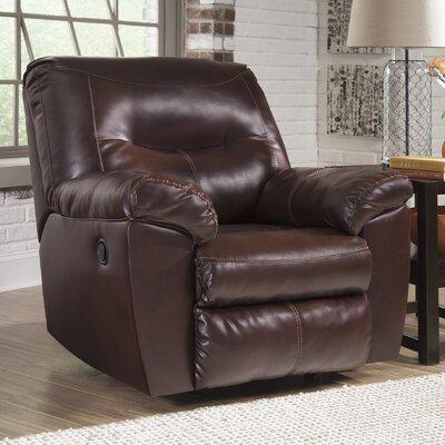 Burkes Rocker Recliner Upholstery: Mahogany
