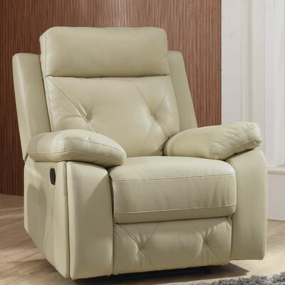 Mcgarity Manual Rocker Recliner Color: Putty