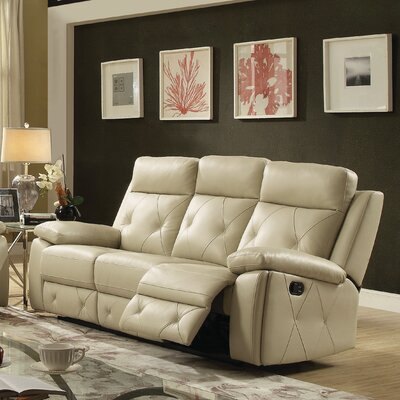 Mcgarity Reclining Sofa Color: Putty