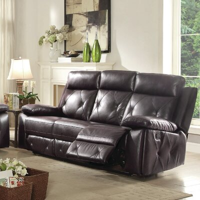 Mcgarity Reclining Sofa Upholstery: Dark Brown