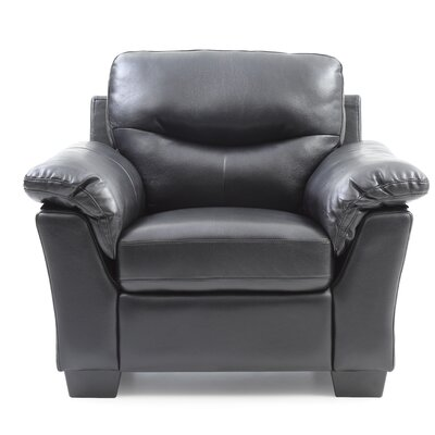 Mcleansboro Club Chair Upholstery: Black