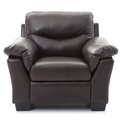McLeansboro Arm Chair Color: Dark Brown