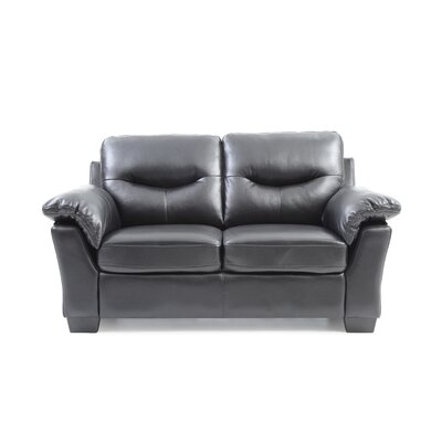 McLeansboro Loveseat Color: Black