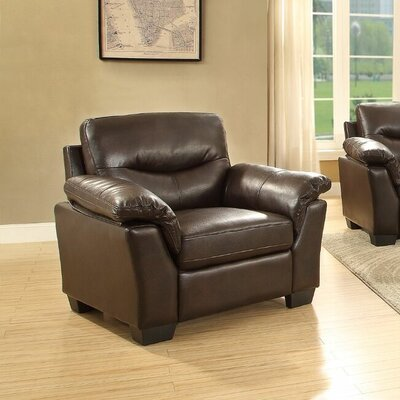 McLeansboro Loveseat Upholstery: Dark Brown