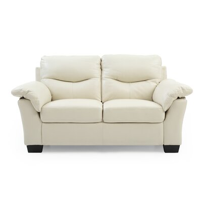 McLeansboro Loveseat Upholstery: Pearl White