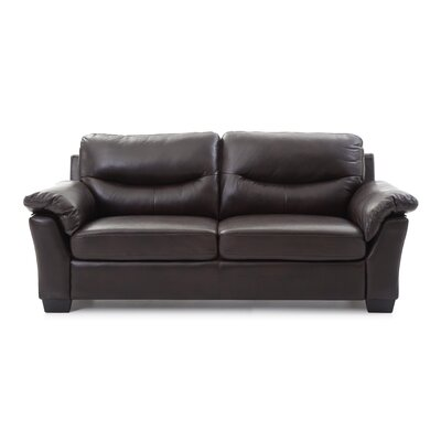McLeansboro Sofa Color: Dark Brown